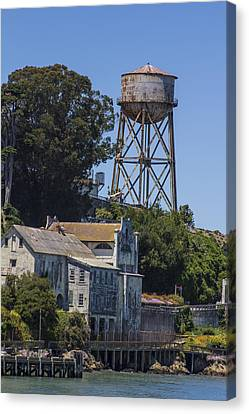 Alcatraz Water Tower Canvas Print by John McGraw