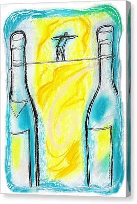 Alcoholism Canvas Print by Leon Zernitsky