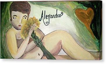 Alejandro Canvas Print by Vickie Meza