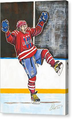 Alexander Ovechkin 2015 Winter Classic Canvas Print by Dave Olsen