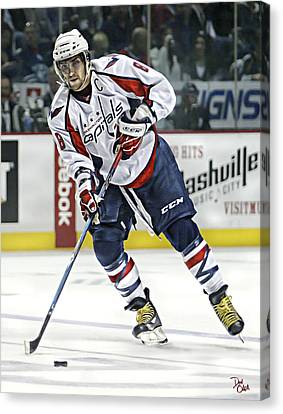 Alexander Ovechkin Canvas Print by Don Olea