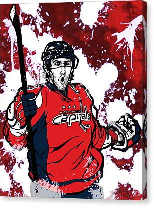 Alexander Ovechkin Canvas Print by Nate Gandt