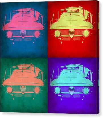 Alfa Romeo  Pop Art 1 Canvas Print by Naxart Studio