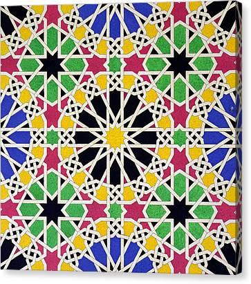 Alhambra Mosaic Canvas Print by James Cavanagh Murphy