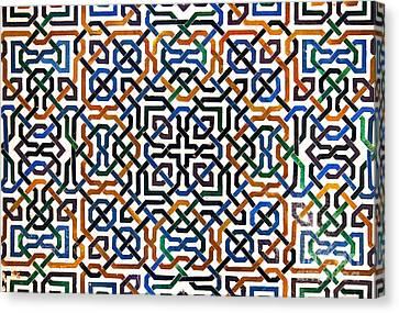 Alhambra Tile Detail Canvas Print by Jane Rix