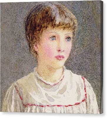 Alice Canvas Print by Helen Allingham