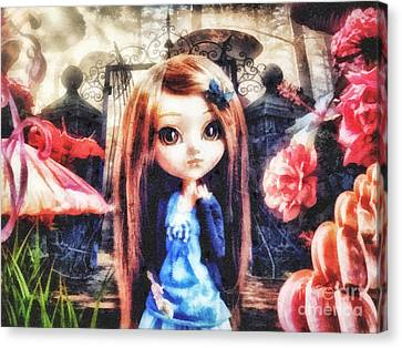 Alice In Wonderland Canvas Print by Mo T