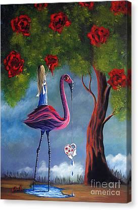 Alice In Wonderland Artwork  Canvas Print by Shawna Erback