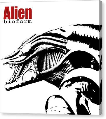 Alien Character  Canvas Print by Toppart Sweden