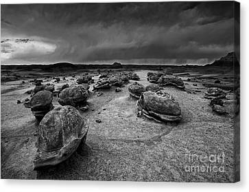Alien Eggs At The Bisti Badlands Canvas Print by Keith Kapple