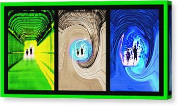 Alien Encounters Triptych Canvas Print by Steve Ohlsen