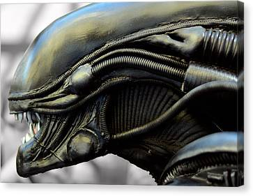 Alien In Closeup Canvas Print by Toppart Sweden