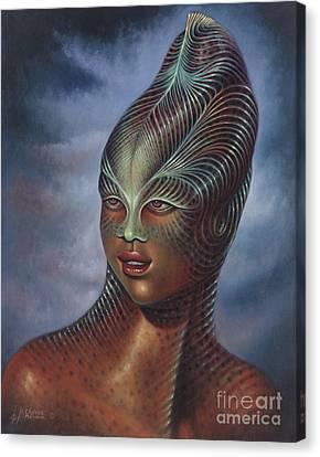 Alien Portrait I Canvas Print by Ricardo Chavez-Mendez