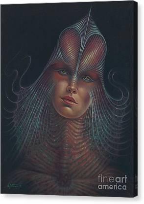 Alien Portrait Il Canvas Print by Ricardo Chavez-Mendez