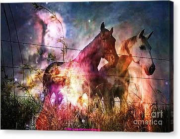 Aliens Took Us Canvas Print by PainterArtist FIN