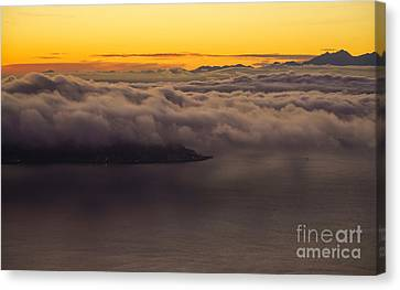 Alki Point Under The Clouds Canvas Print by Mike Reid