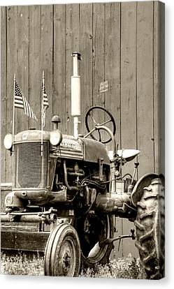 All American Tractor Canvas Print by Heather Allen