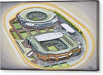All England Lawn Tennis Club Canvas Print by D J Rogers