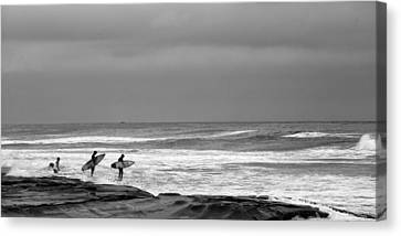 All In Black And White Canvas Print by Peter Tellone