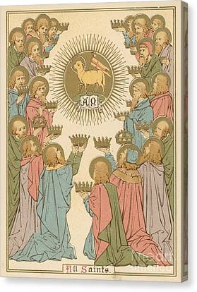 All Saints Canvas Print by English School