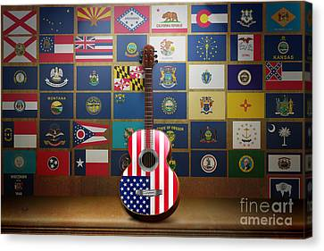 All State Flags Canvas Print by Bedros Awak