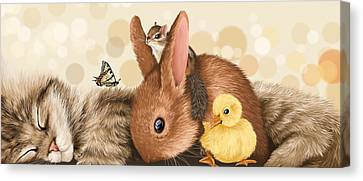 All Together Canvas Print by Veronica Minozzi