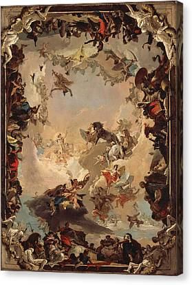 Allegory Of The Planets And Continents Canvas Print by Giovanni Battista Tiepolo