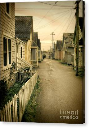 Alley And Abandoned Houses Canvas Print by Jill Battaglia