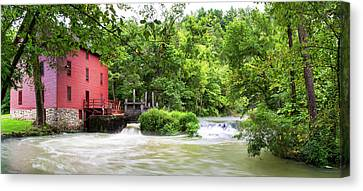 Alley Spring And Mill, Ozark National Canvas Print by Panoramic Images