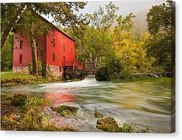 Alley Spring Mill Canvas Print by Gregory Ballos