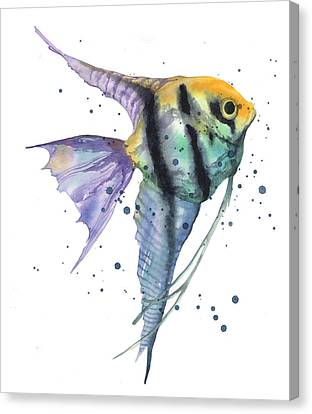 Alluring Angelfish Canvas Print by Alison Fennell