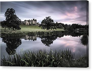 Alnwick Castle Sunset Canvas Print by Dave Bowman