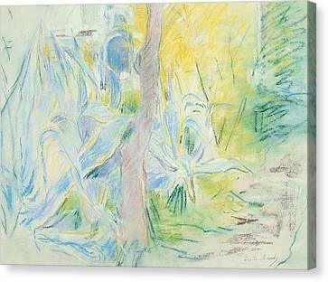 Aloes At Villa Ratti Canvas Print by Berthe Morisot