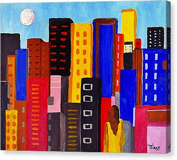 Alone Among All - City 05 Canvas Print by Mirko Gallery