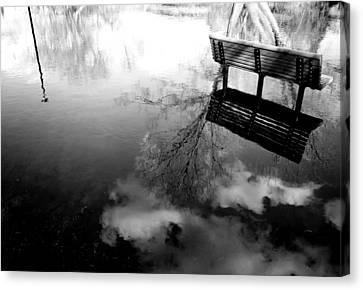 Alone I Sit Canvas Print by JC Photography and Art
