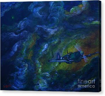 Alone In The Clouds Canvas Print by William Bezik