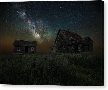 Alone In The Dark Canvas Print by Aaron J Groen