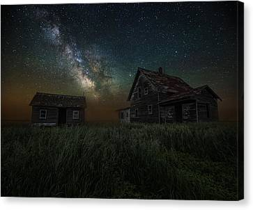 Alone In The Dark Canvas Print by Aaron J Groen
