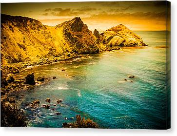 Along The 101 Canvas Print by Mickey Clausen