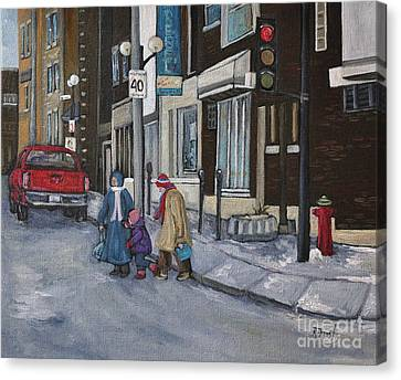 Along The Boulevard Canvas Print by Reb Frost