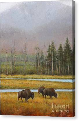 Along The Madison Canvas Print by Lori  McNee