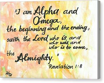 Alpha And Omega Canvas Print by Margit Wimmer