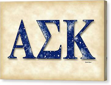 Alpha Sigma Kappa - Parchment Canvas Print by Stephen Younts