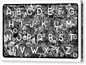 Alphabet Soup Canvas Print by Matthew Ridgway