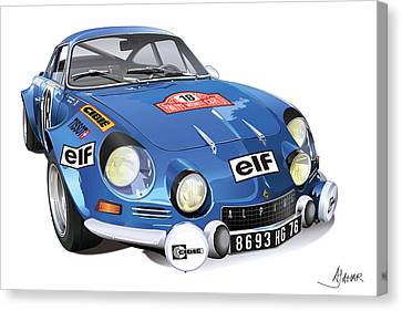 Renault Alpine A110 Canvas Print by Alain Jamar