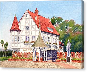 Alt Karlsbad California Canvas Print by Mary Helmreich