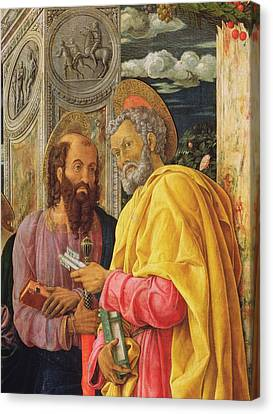 Altarpiece From San Zeno Maggiore, Verona, Detail Of The Left Hand Panel Showing Saint Peter Canvas Print by Andrea Mantegna