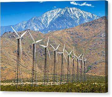 Alternative Power Wind Turbines Canvas Print by Susan Schmitz