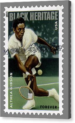 Althea Gibson Postage Stamp Canvas Print by Phil Cardamone