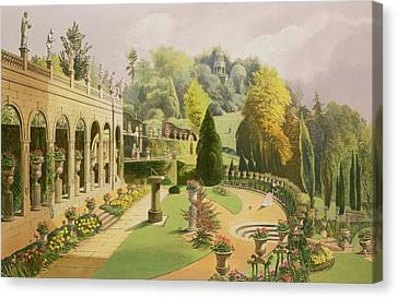 Alton Gardens Canvas Print by E Adveno Brooke